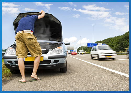Your road trip adventure turns into a side-of-the-road situation.